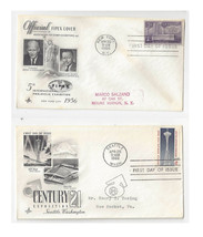 FDC Lot of 2 Sc# 1076 1196 FIPEX and Seattle World's Fair Art Craft Cachet - $4.74
