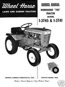 "Wheel Horse ""700"" Owners Manual No. 1-3745 - 1-3741"