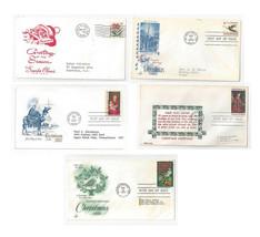 FDC Lot of 5 Sc# 1256 1276 1336 1363 1145 Christmas Artmaster Art Craft ... - $5.99