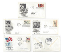 FDC Lot of 4 Sc# 1153 1238 1307 1318 Art Craft Cachet 1960s first Day Co... - $6.69
