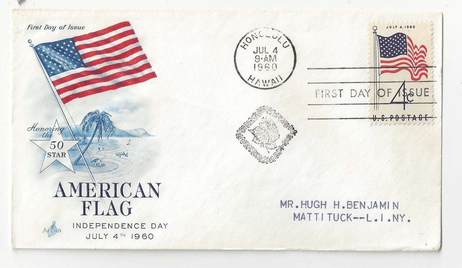 FDC Lot of 4 Sc# 1153 1238 1307 1318 Art Craft Cachet 1960s first Day Covers