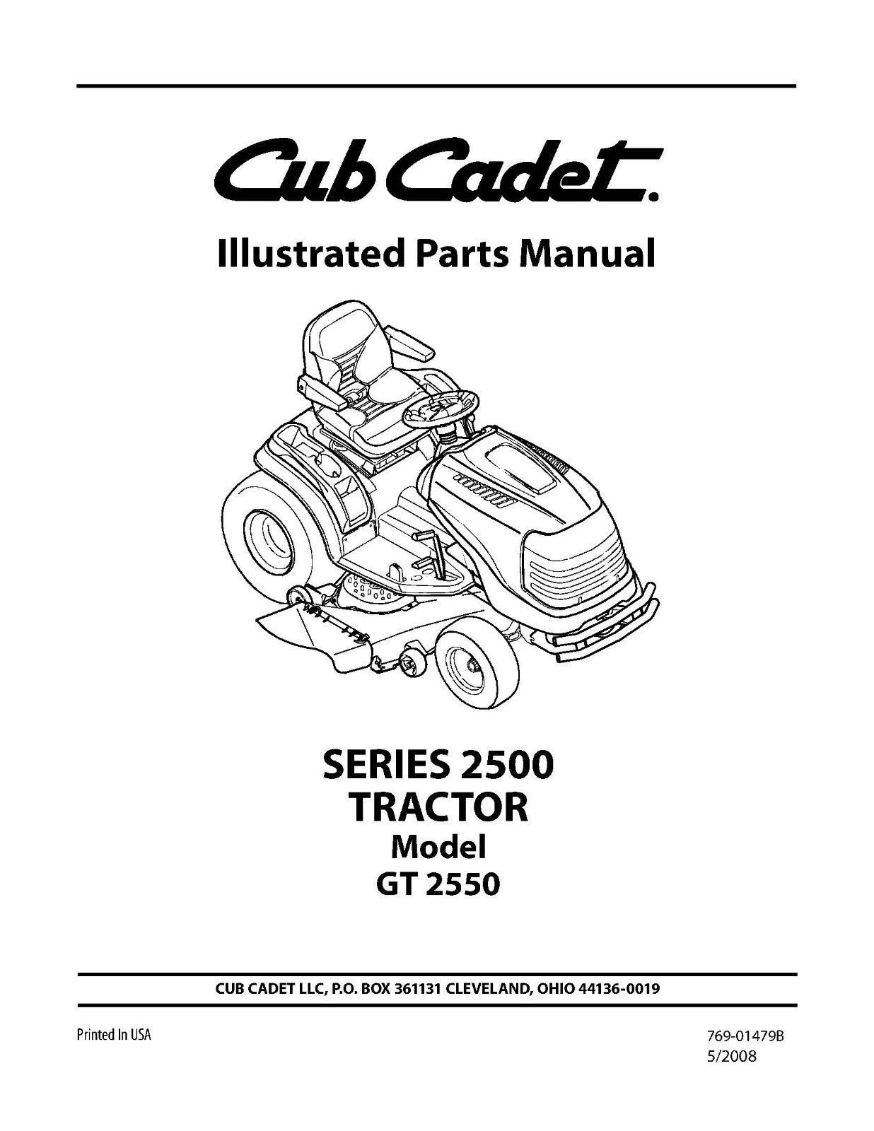 Cub Cadet Parts Manual Model No. GT 2550