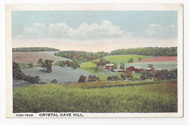PA Kutztown View from Cyrstal Cave Hill Vintage Postcard - $4.74
