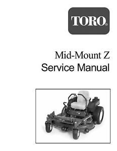 TORO MID-MOUNT Z SERVICE MANUAL