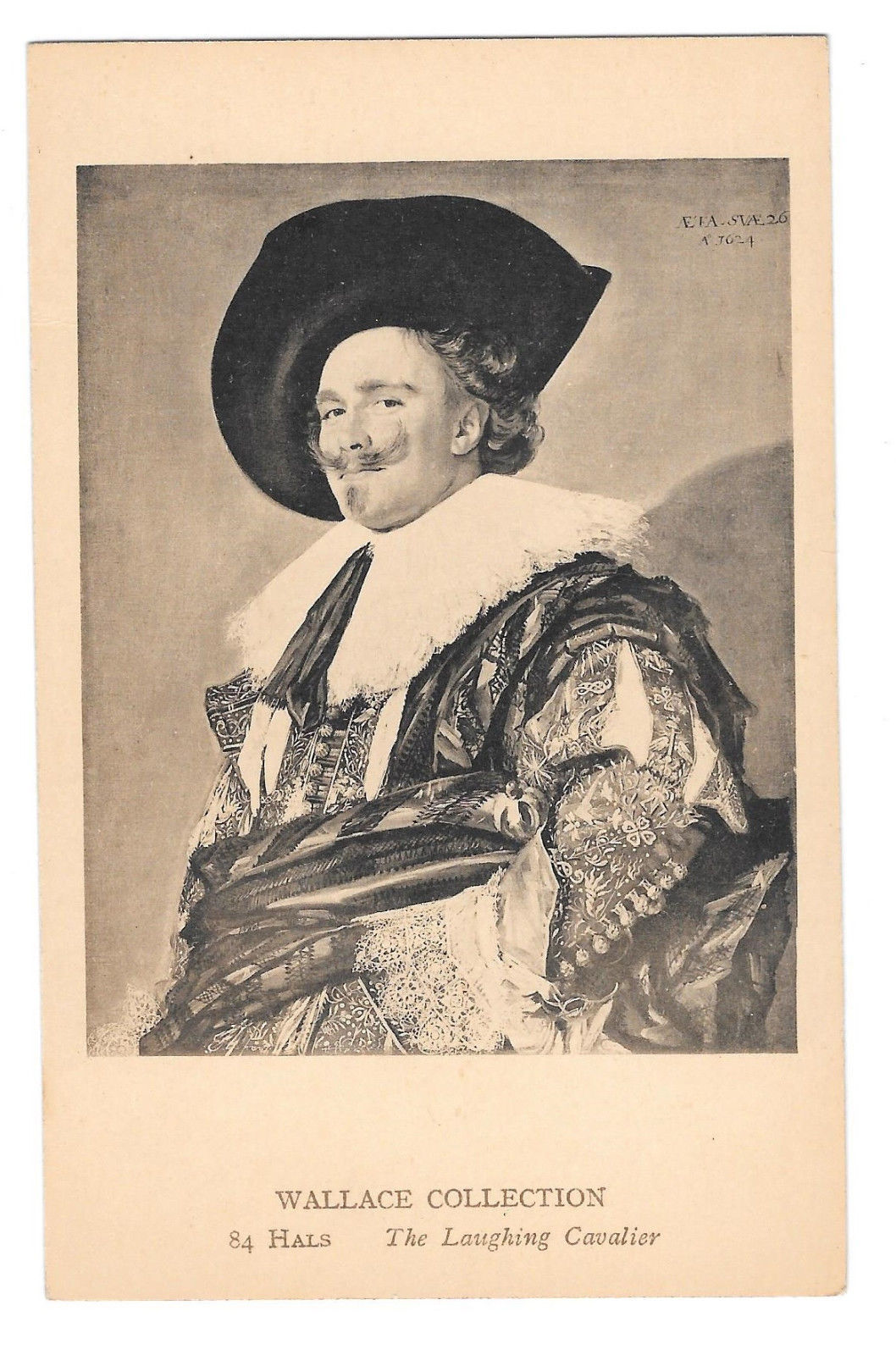 Frans Hals Laughing Cavalier Vtg Postcard Wallace Collectioin