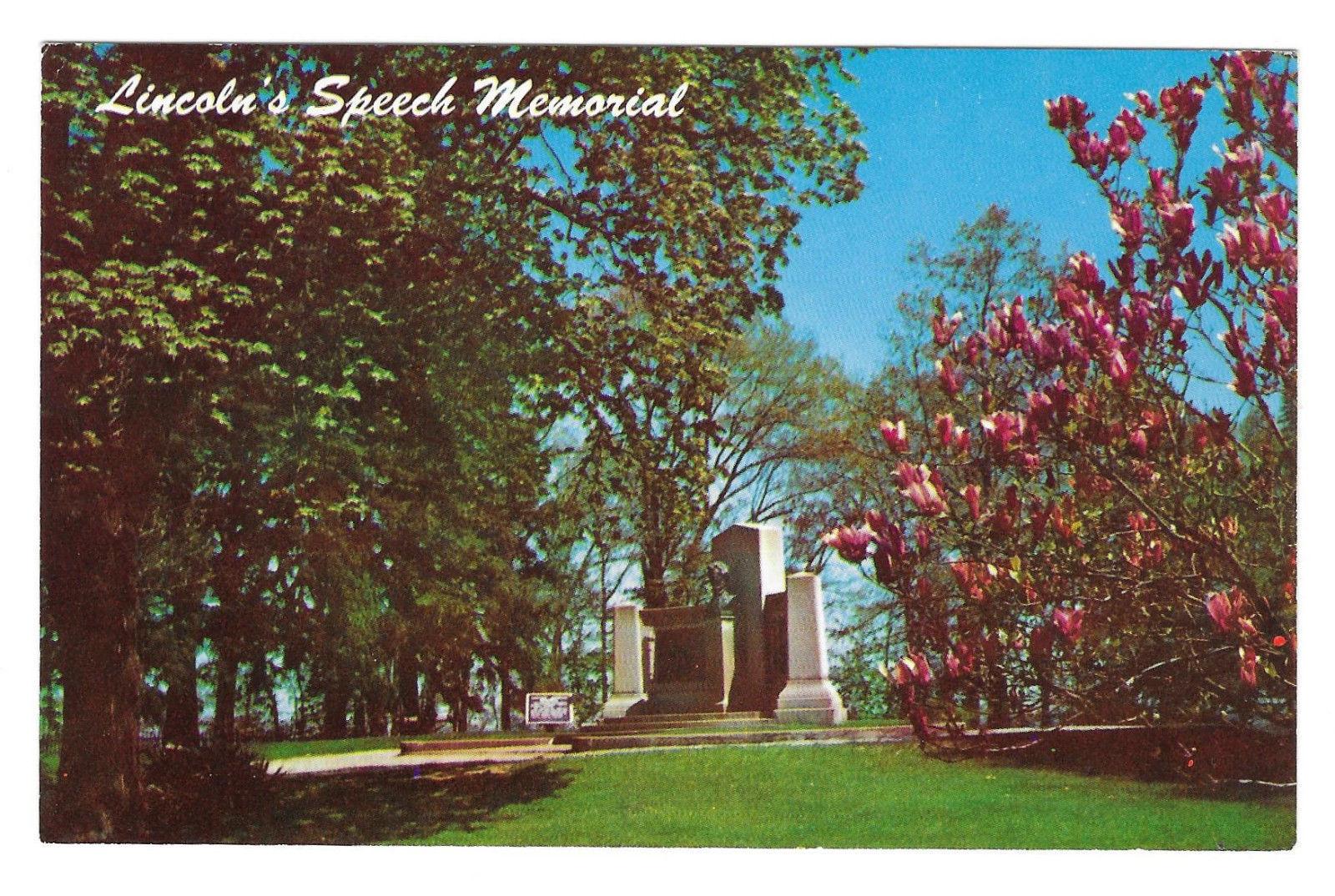 Gettysburg Civil War Lincoln Speech Memorial Vtg L.E. Smith Postcard PA