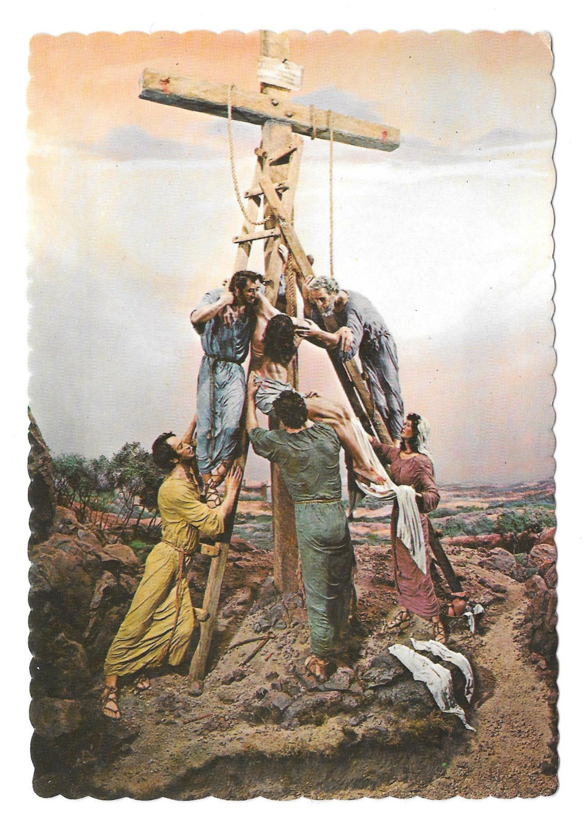 Gettysburg PA Prince of Peace Museum Christ Descent from Cross Vtg Postcard 4X6