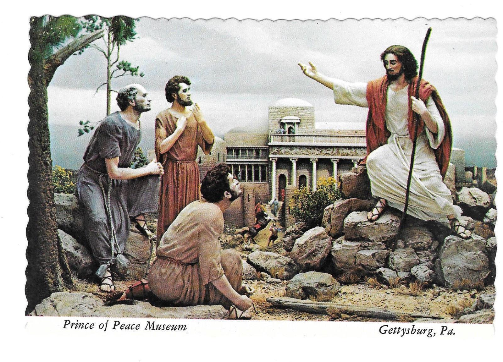 Gettysburg PA Prince of Peace Museum Christ Wars Rumours Vtg Postcard 4X6