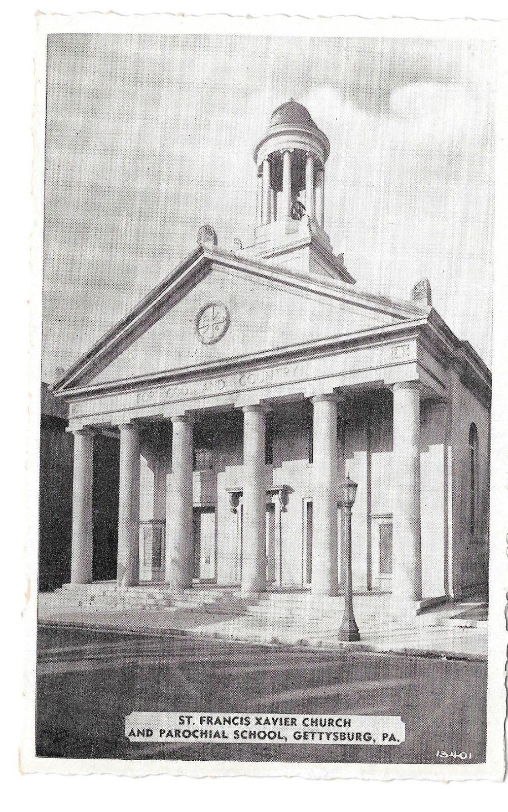 Gettysburg PA St Francis Xavier Church Civil War Hospital Vtg Buohl Postcard