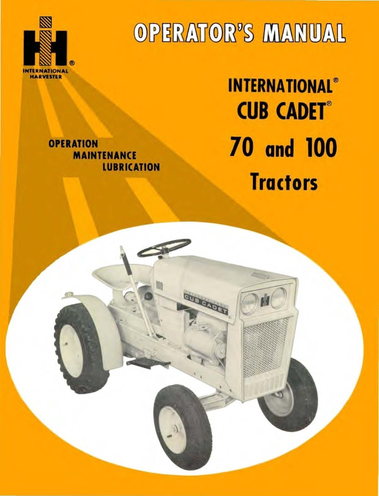 IH Cub Cadet 70-100 Lawn Tractor Manuals Combo Package