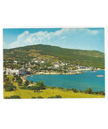Greece Aegina Egina Agia Saint Marina Aerial View Beach Vtg Postcard 4X6 - $6.36