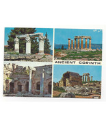 Greece Ancient Corinth Multiview 4 Views Ruins Temples Vtg Postcard 4X6 - $6.64