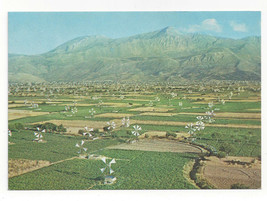 Greece Crete Lassithi Plateau Irrigation Windmills Aerial View Vtg Postc... - $6.36