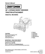 "Craftsman 46"" Snow Thrower Attach. Manual # 486.248462 - $10.88"
