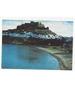 Greece Rhodes Rodos Lindos Acropolis Beach La Playa Aerial View Vtg Post... - $5.69