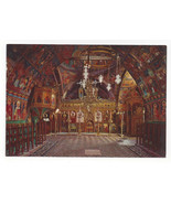 Greece Rhodes Rodos Lindos Byzantine Church of Virgin Interior Vtg Postc... - $5.69