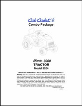 Cub Cadet  Model No.3204 Manuals COMBO Package - $17.82