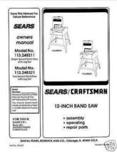"""Craftsman  12 """" Operators Manual 113.248321 - $10.88"""