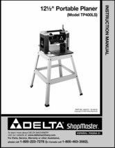 Delta Planer TP400LS Instruction Manual - $10.88
