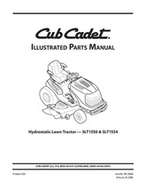 Cub Cadet Parts Manual Model No. SLT 1550 - SLT 1554 - $10.88