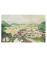 Hoosick Falls Grandma Moses Primitive Painting Vtg Postcard - $5.69