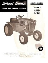 Wheel Horse Charger 12 lawn Tractor manual Model 1-7231 - $10.88