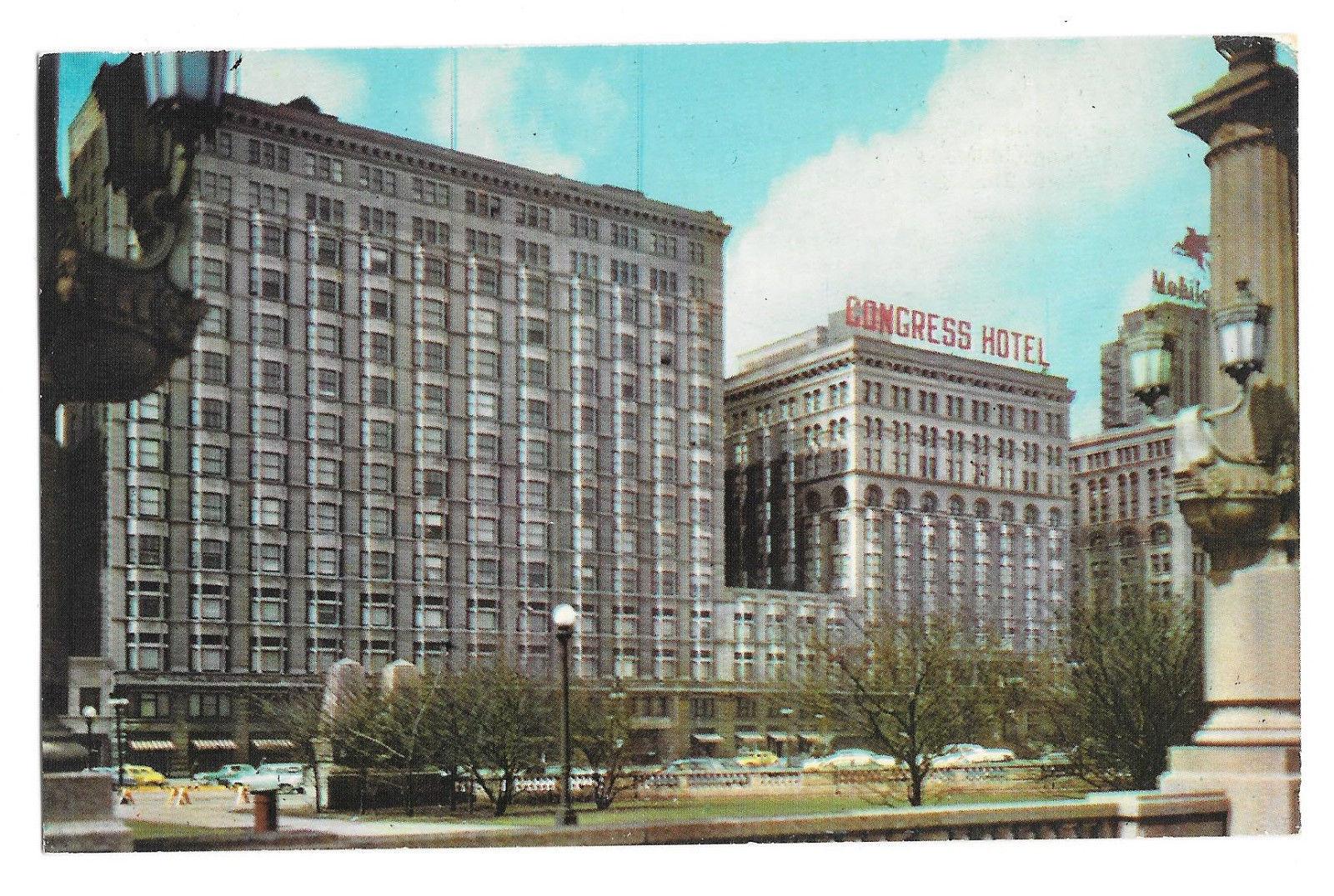 IL Chicago The Pick Congress Hotel Vtg Postcard