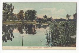 IN Logansport Lagoon in Riverside Park Indiana Vtg Postcard 1909 Flag Ca... - $4.74