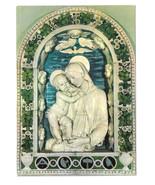 Italy Florence Firenze Della Robbia Virgin and Child Vtg Art Postcard 4X6 - $5.69