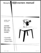 "Sears Craftsman 12"" Radial Arm Saw Manual No.113.29511 - $10.88"