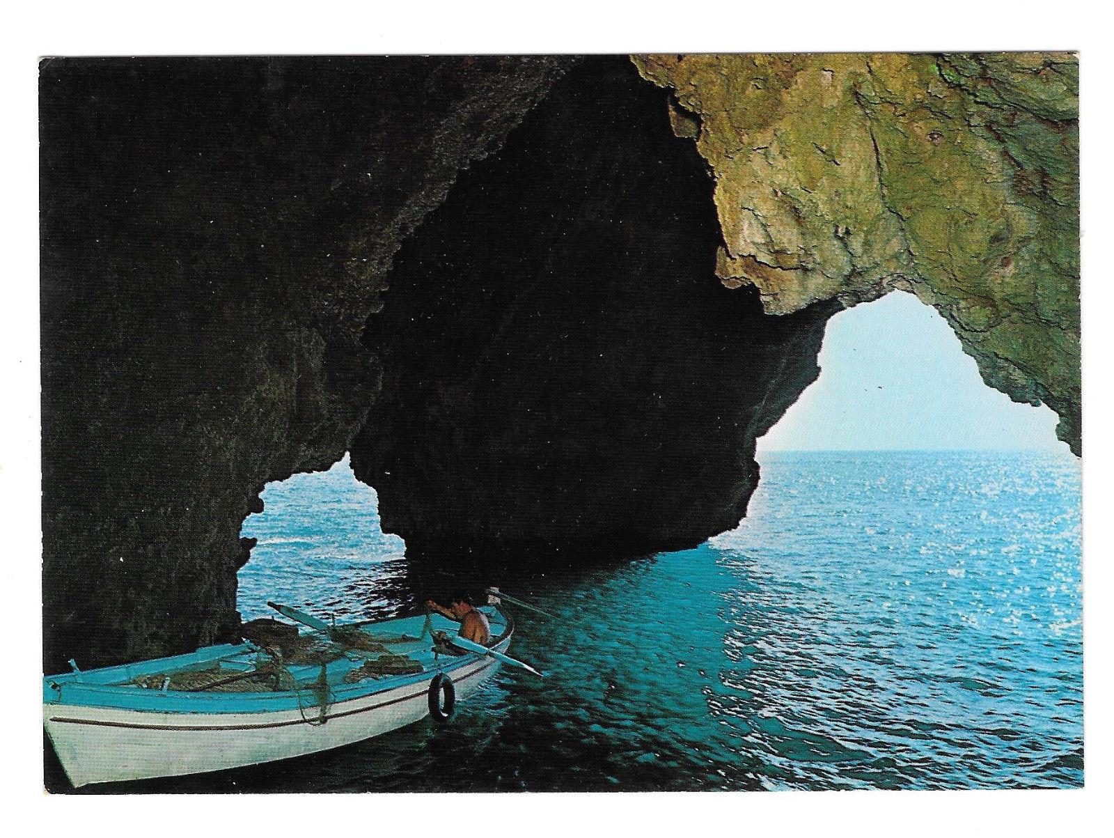 Italy Monte Argentario Porto Ercole Blue Grotto Sea Cave Vintage Postcard 4X6