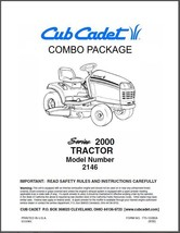Cub Cadet  Model No. 2146 Manuals COMBO Package - $15.84