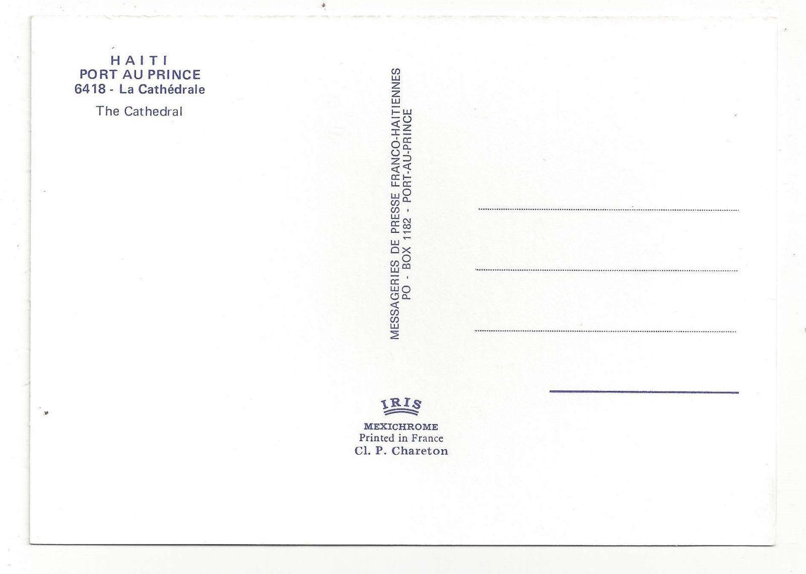 Haiti Port Au Prince Cathedral Caribbean Vtg Postcard 4X6