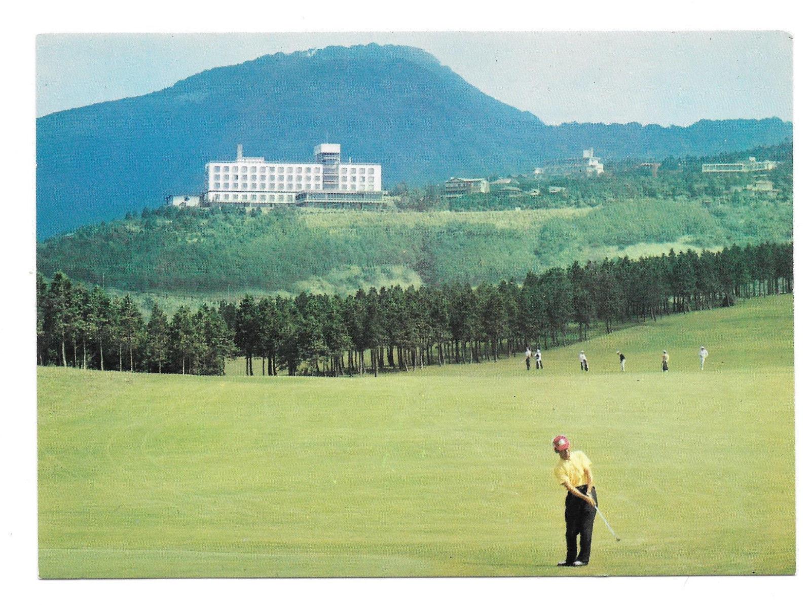 Japan Hakone Kanko Hotel Sengokuhara Golf Course Vtg Art Postcard 4X6