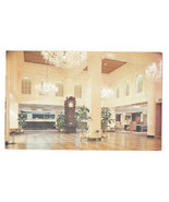 LA New Orleans Hotel Monteleone French Quarter Marble Lobby Vtg Postcard - $4.74
