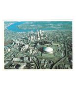 LA New Orleans Aerial View Superdome Mississippi Bridge Hotels Vtg Postc... - $4.74