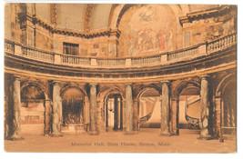 MA Boston State House Memorial Hall Vtg Robbins Bros Postcard 1908 - $4.74