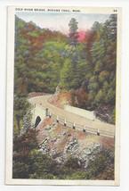 MA Mohawk Trail Cold River Bridge Vtg Tichnor Postcard ca 1941 - $4.74