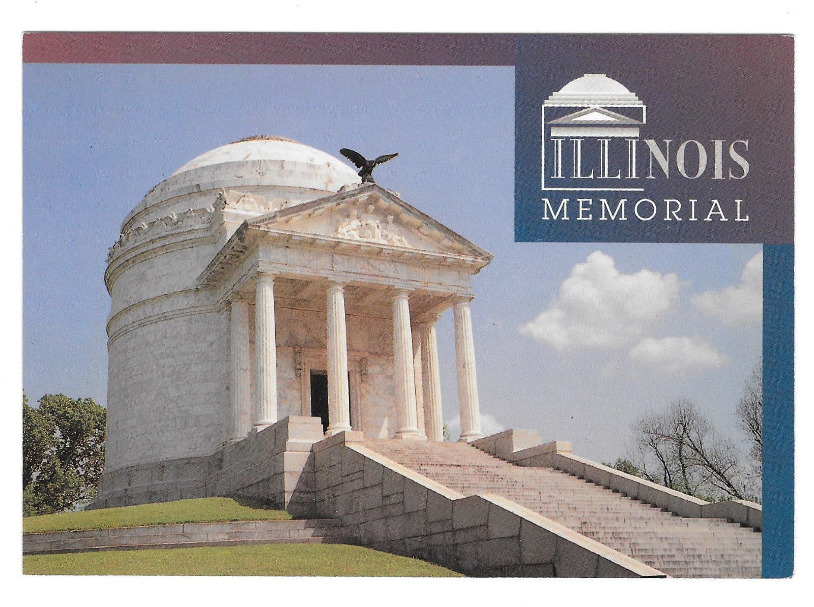 MS Vicksburg National Military Park Illinois Memorial Vtg Postcard 4X6