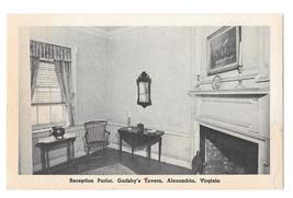 VA Alexandria Gadsby's Tavern Reception Parlor Vtg NSDAR Postcard - $6.45