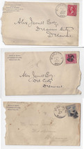 Middleton DE 3 Commercial Covers Martin Burris Lawyer 1892 1901 18?? - $4.99