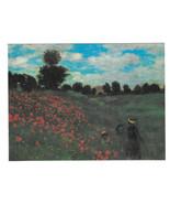 Monet Field of Poppies Impressionist Painting Vtg Art Postcard 4X6 - $4.99