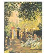 Monet Parisiennes Parc Monceau Impressionist Painting Vtg Art Postcard 4X6 - $6.36