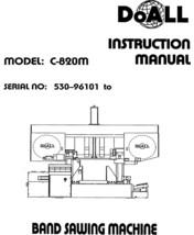 DoAll Band Saw Operators Manual Model No. C-820M - $21.78