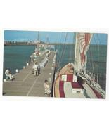 NJ Atlantic City Inlet Pier Sailboats Fishing Boats Vtg Postcard - $6.45