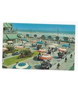 NJ Atlantic City Dennis Hotel Terrace and Boardwalk Vintage 1950 Postcard - $6.36