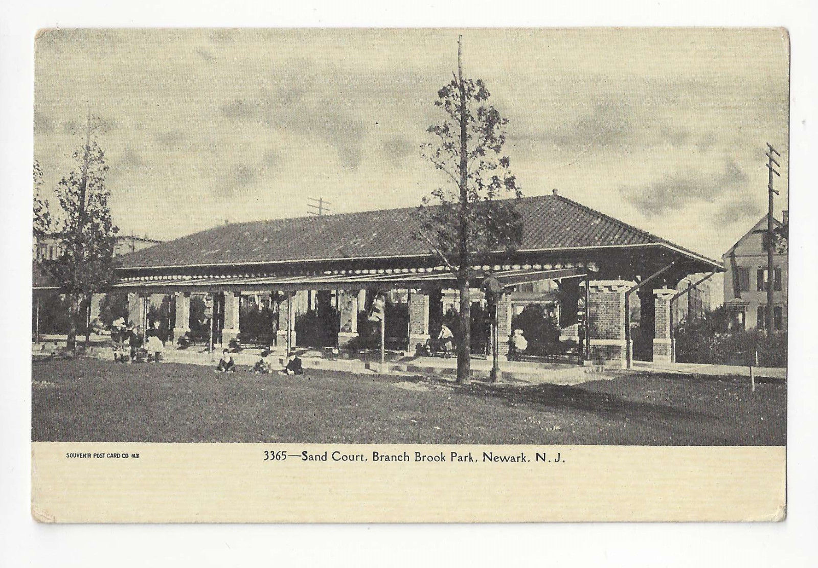 Primary image for NJ Newark Sand Court Branch Brook Park Vtg UDB Postcard ca 1905