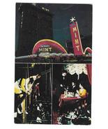 NV Las Vegas Del Webb's Mint Hotel Casino Fremont Street Night Vtg Postcard - $4.74