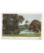 NY Central Park and Temple Beth El New York City Vtg 1906 UDB Postcard - $6.17