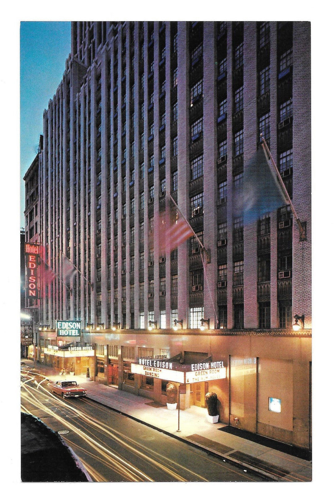 NY Hotel Edison 46th to 47th W of Broadway New York City Vtg Postcard